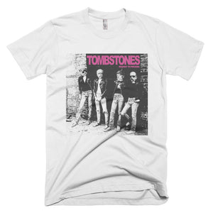 The TOMBSTONES ROCKET TO PRUSSIA Short-Sleeve T-Shirt - White - MiseryIncorporated
