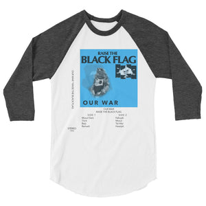 Cassette - Our War Unisex Baseball Style Raglan - Heather Black Sleeves - MiseryIncorporated