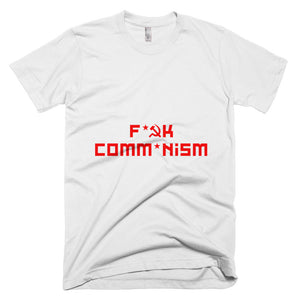 F Comm*nism Short-Sleeve T-Shirt - White - MiseryIncorporated