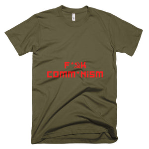 F Comm*nism Short-Sleeve T-Shirt - Army Green - MiseryIncorporated