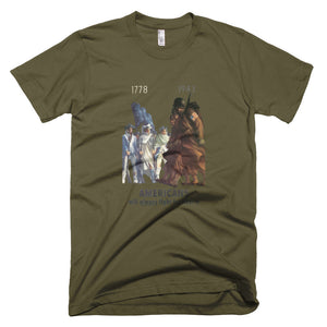 Americans Will Always Fight for Liberty Short-Sleeve T-Shirt - Army Green - MiseryIncorporated