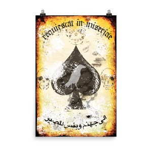 "Misery Incorporated / Raise The Black Joint ""Rest In Misery"" Death Card Poster"