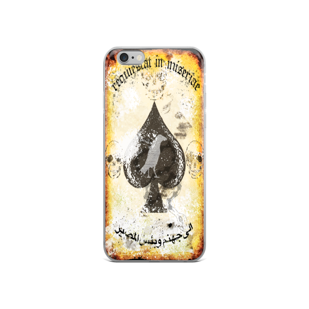 "Misery Incorporated / Raise The Black Joint ""Rest In Misery"" Death Card iPhone Case"