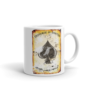 "Misery Incorporated / Raise The Black Joint ""Rest In Misery"" Death Card Mug Made In The USA"