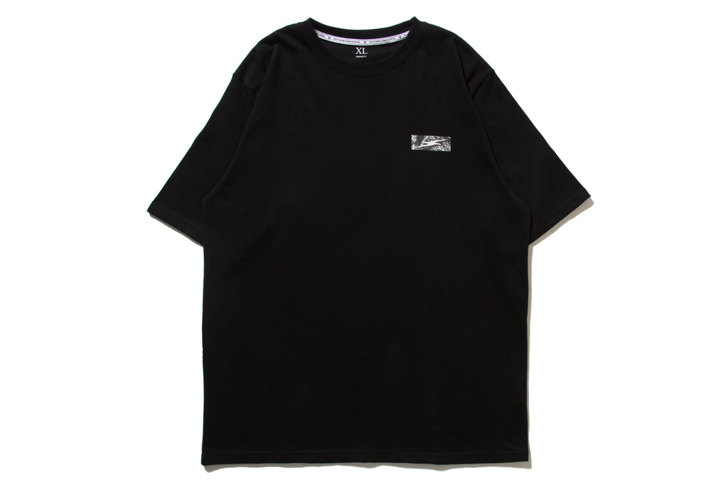 "REMIX ""SPLIT TEE"" (Black)"