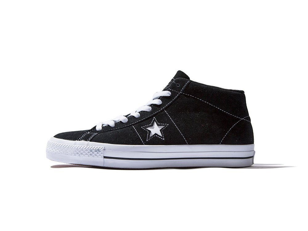 "CONVERSE ""ONE STAR PRO SUEDE MID"" (Black)"
