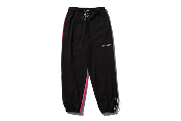 "REMIX ""DIVISION SWEAT PANTS"" (Black/Pink)"