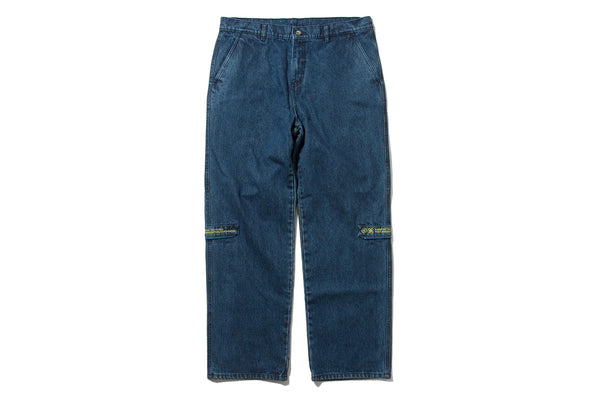 "4DIMENSION x DeMarcoLab ""4DMLAB DENIM PANT"" (Indigo)"
