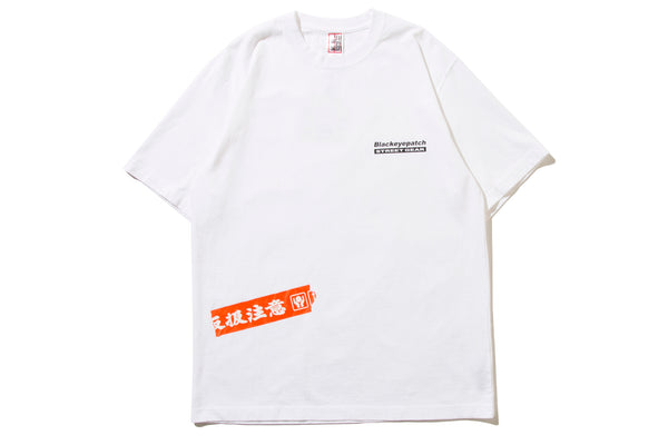 "BlackEyePatch ""HANDLE WITH CARE TEE"" (White)"
