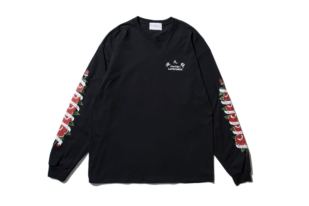 "BLACK WEIRDOS ""ROSE L/S TEE"" (Black)"
