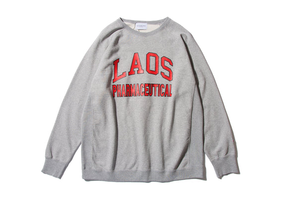 "BLACK WEIRDOS ""LAOS COLLEGE SWEAT"" (Grey)"