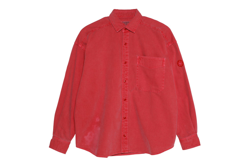 "C.E ""OVERDYE COLOUR DENIM SHIRT"" (Red)"