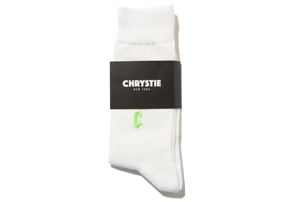 "CHRYSTIE NYC ""CASUAL SOCKS"" (White)"