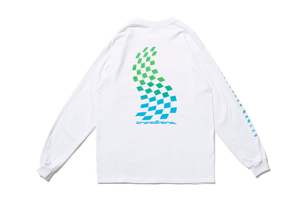 "CHILL OUT ""TRANCENTRAL RACING L/S TEE"" (Blue)"