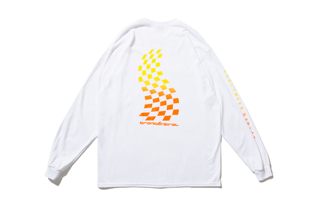 "CHILL OUT ""TRANCENTRAL RACING L/S TEE"" (Orange)"