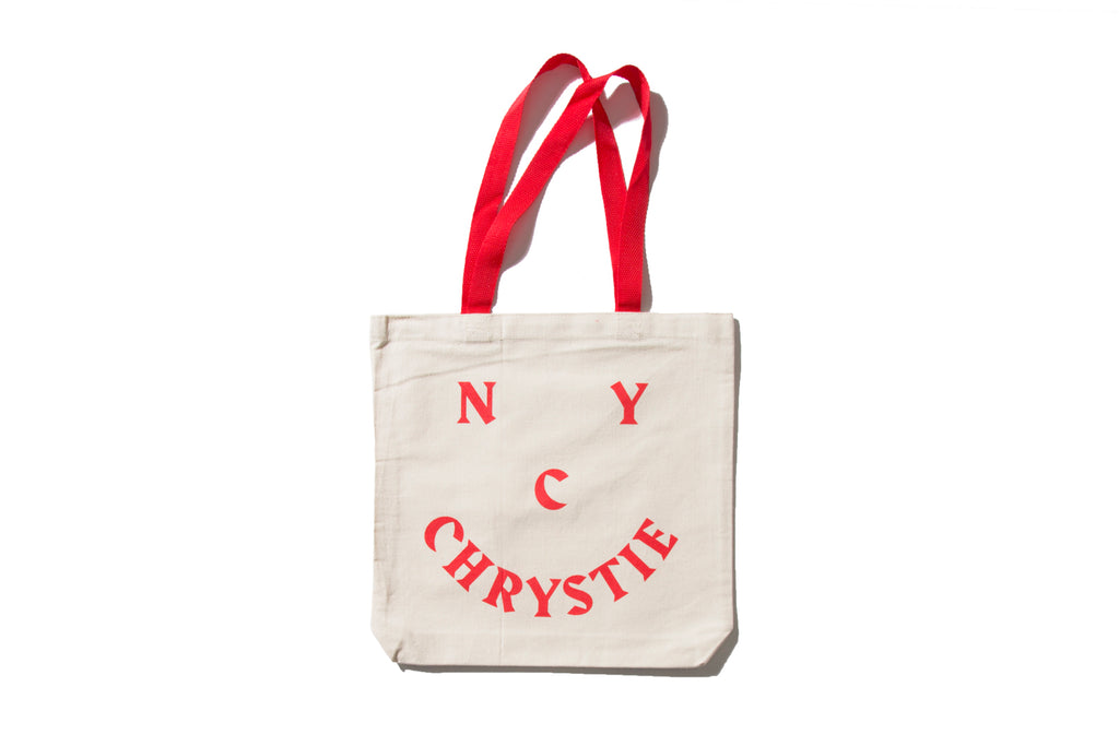 "CHRYSTIE NYC ""SMILE LOGO TOTE"" (Red)"