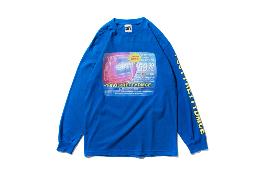 "DeMarcoLab x PRETTYNICE ""INFOMERCIAL L/S TEE"" (Royal)"