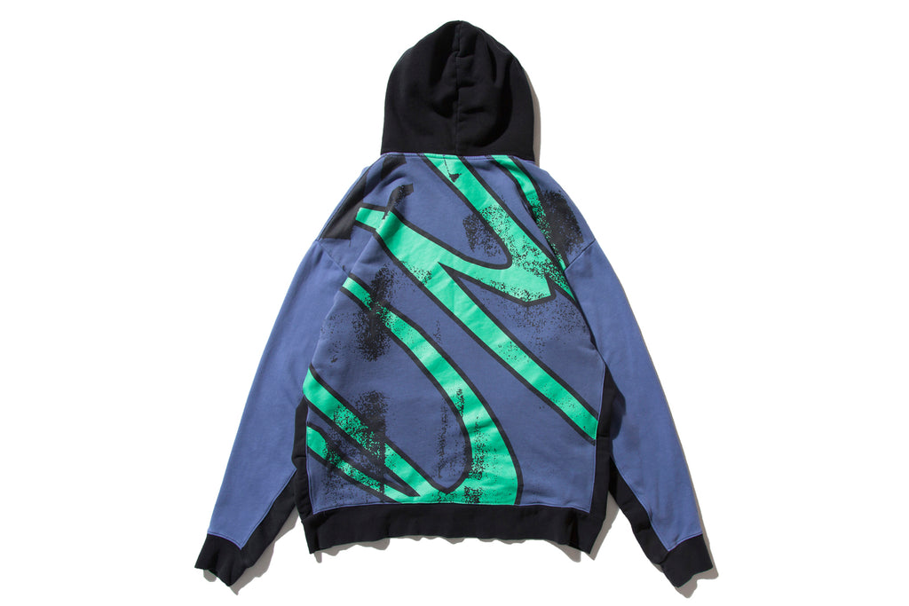 "DeMarcoLab ""OVER DYED PANEL HOODY"" (Purple)"