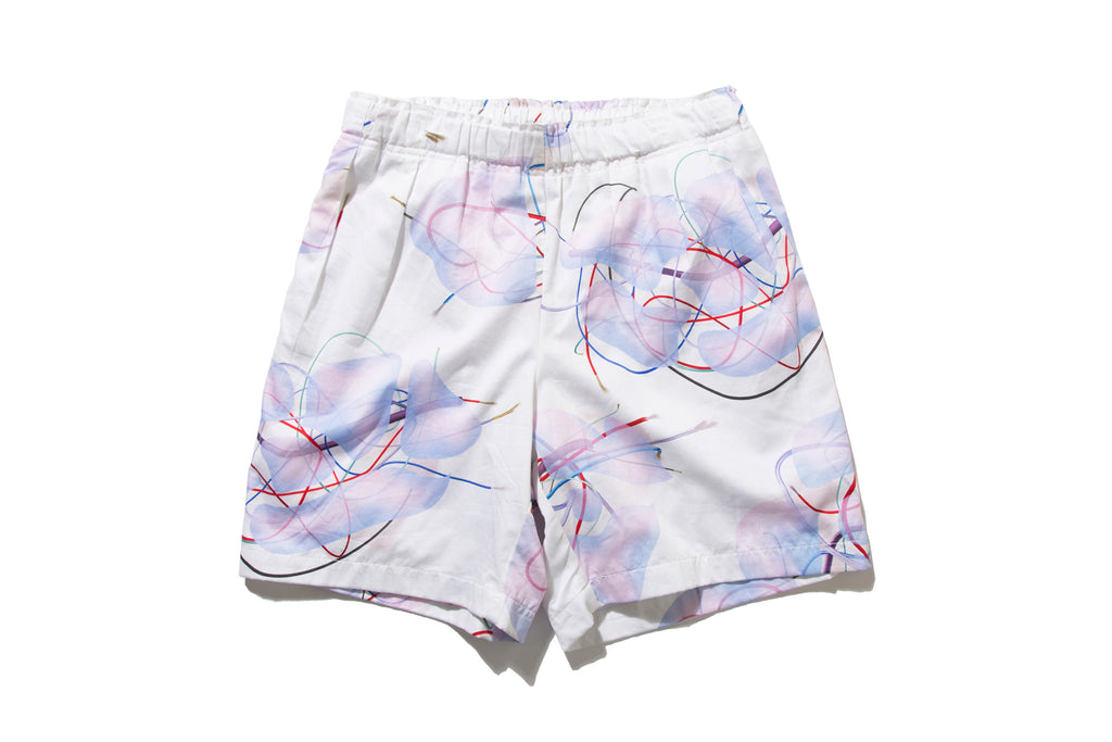"DeMarcoLab ""BRANCHES & LEAVES 2T SHORTS"" (Ivory)"