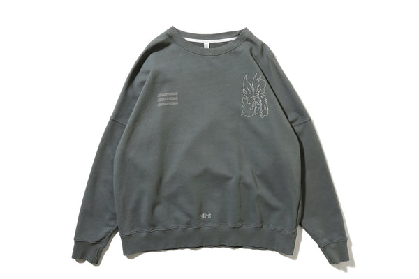 "DeMarcoLab ""DG.GAME CREWNECK SWEAT"" (Steel)"