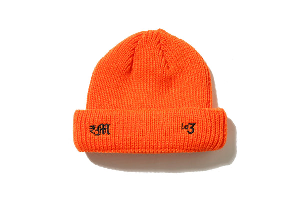 "DeMarcoLab ""dMLA3 SHORT BEANIE"" (Orange)"