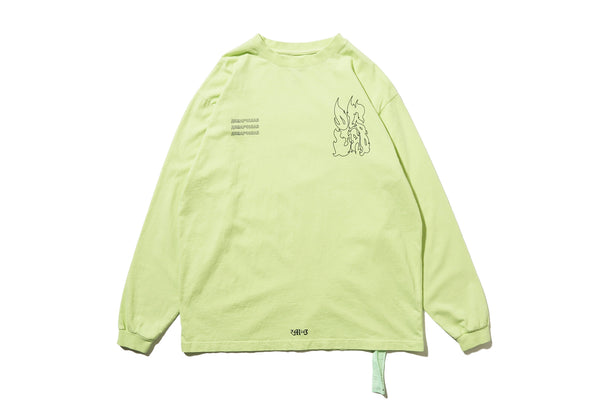 "DeMarcoLab ""DG.GAME L/S TEE"" (Lime)"