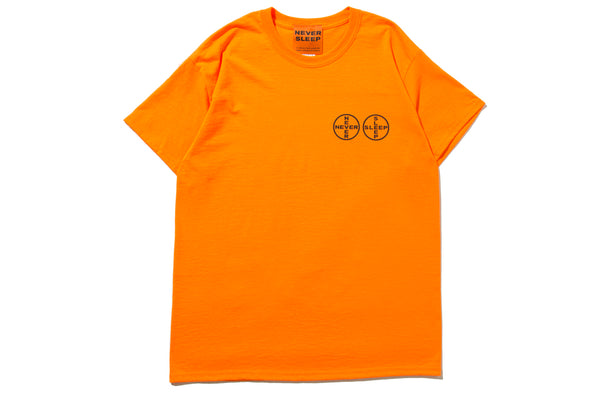 "GABBER ELEGANZA ""NEVER SLEEP LOGO TEE"" (Orange)"