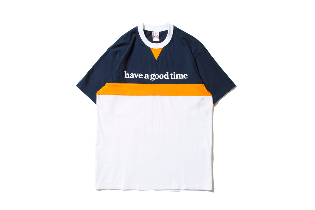 "have a good time ""SIDE LOGO LINE S/S TEE"" (Navy)"