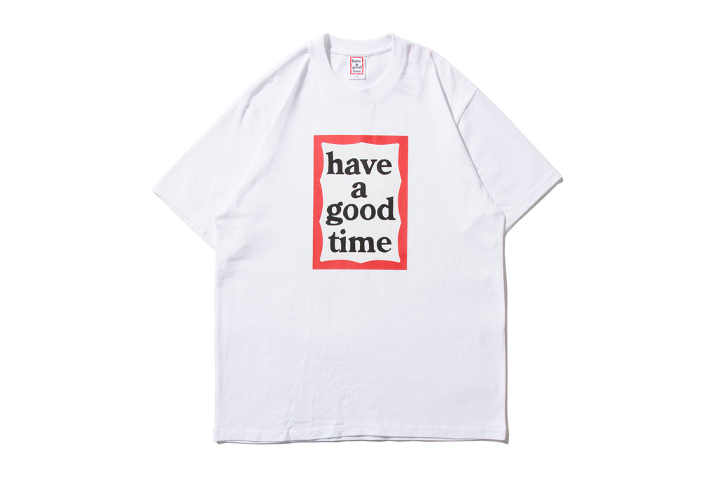 "have a good time ""FRAME S/S TEE"" (White)"