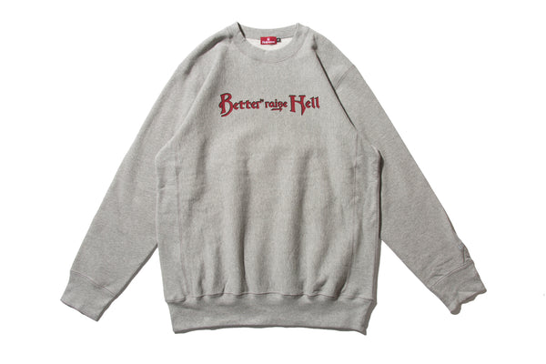 "HELLRAZOR ""HELLRAISE & BETTER CREWNECK"" (Grey)"