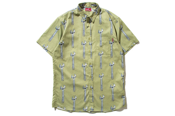 "HELLRAZOR ""WRENCH BUTTON SHIRT"" (Khaki)"