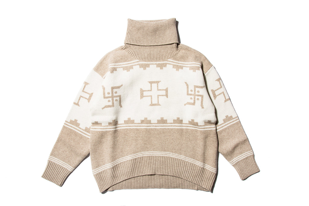 "BLACK WEIRDOS ""GEOMETRY TURTLE KNIT"""
