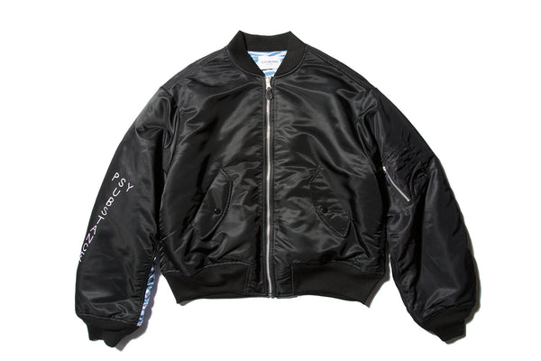 "BLACK WEIRDOS ""MA-1 JACKET"" (Black)"