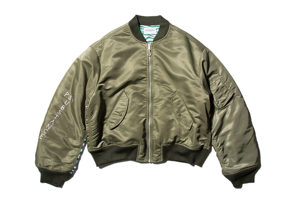 "BLACK WEIRDOS ""MA-1 JACKET"" (Olive)"