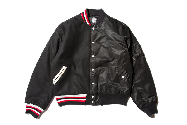 "BRAIN DEAD ""SPLIT VARSITY JACKET"""