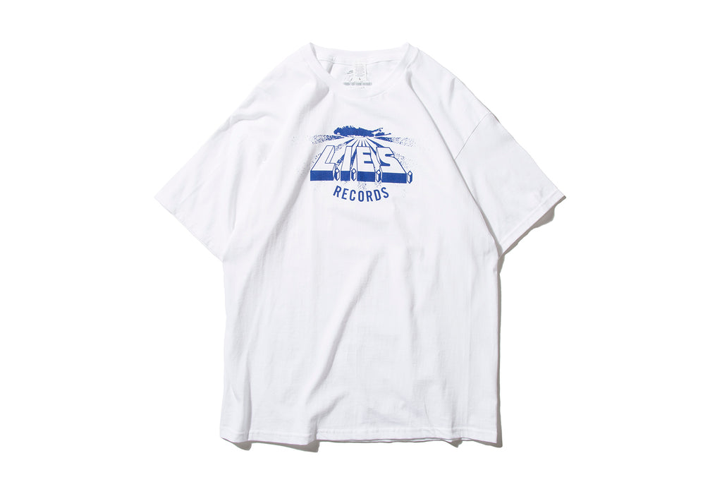 "L.I.E.S. RECORDS ""LOGO TEE"" (BLUE ON WHITE)"