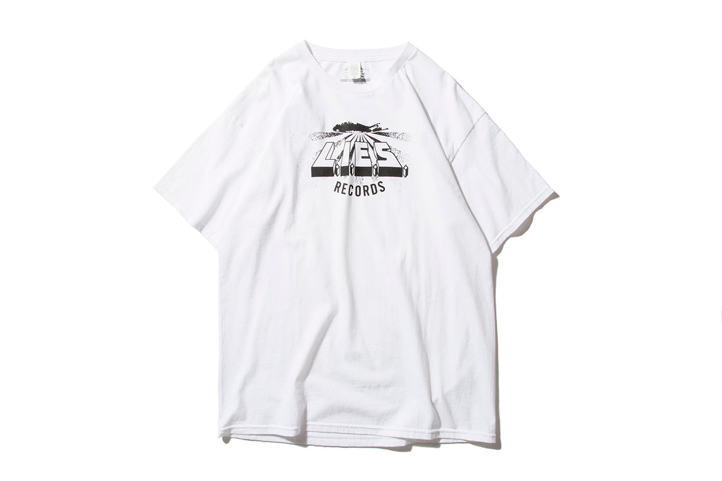 "L.I.E.S. RECORDS ""LOGO TEE"" (White)"