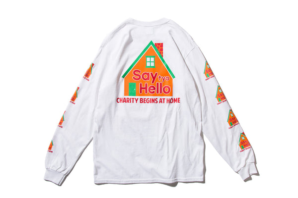 "SAYHELLO ""DREAM HOUSE L/S TEE"" (White)"