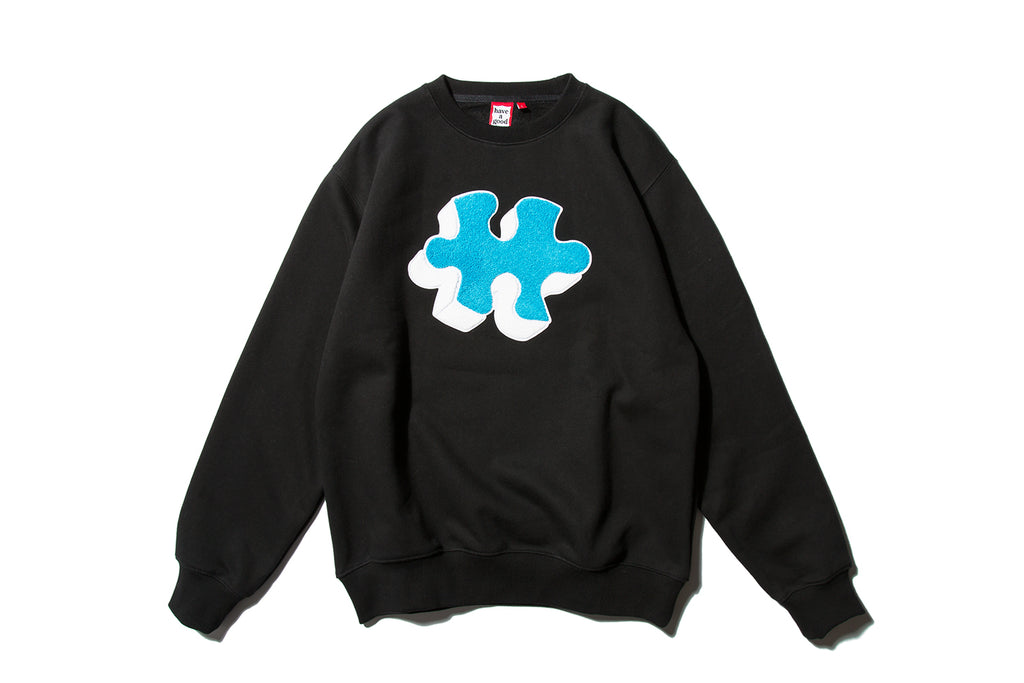 "have a good time ""PUZZLE CREWNECK"" (Black)"