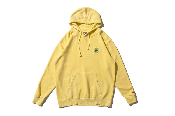 "SAYHELLO ""EMBROIDERY SOUL GAMENT DYED HOODIE"" (Yellow)"
