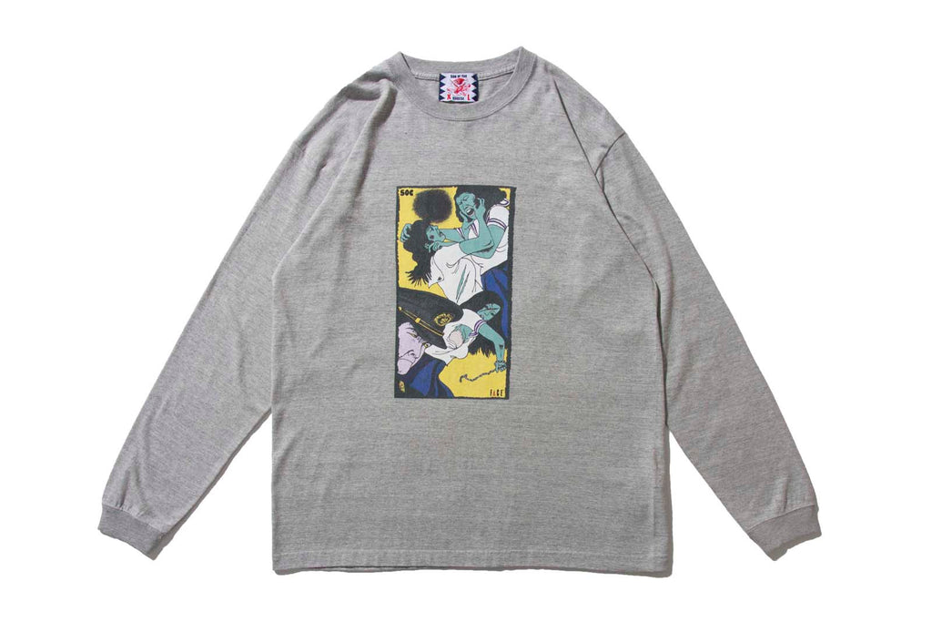 "SON OF THE CHEESE ""FACE LONG SHIRT"" (Grey)"
