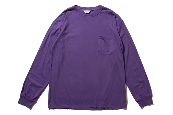 "UNUSED ""US1595 L/S POCKET TEE"" (Purple)"