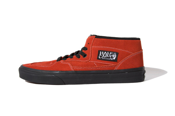 "Vans ""HALF CAB (BLACK OUTSOLE)""(Red)"