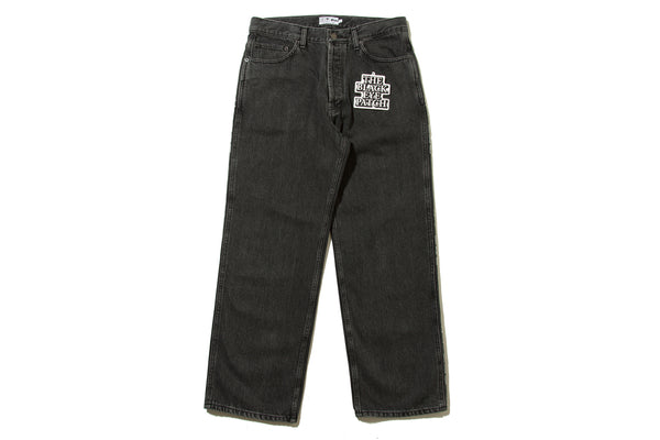 "BlackEyePatch ""HANDLE WITH CARE DENIM PANTS"""