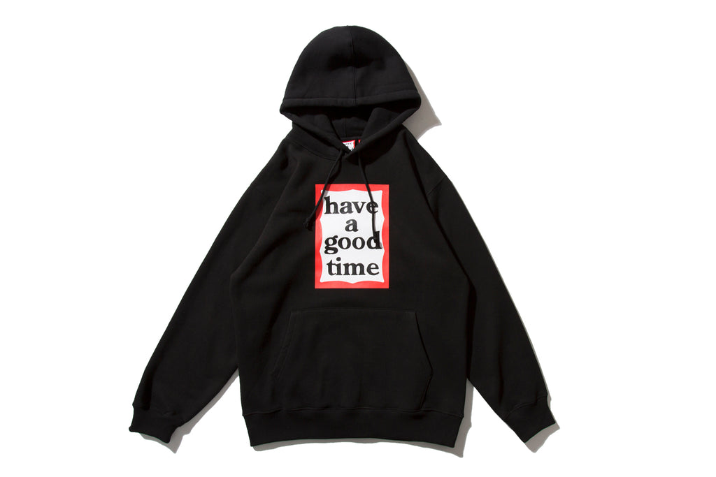 "have a good time ""FRAME PULLOVER HOODIE"" (Black)"