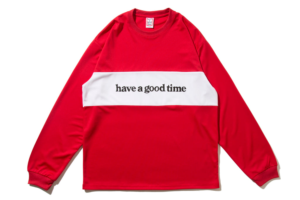"have a good time ""PANEL JERSEY L/S TEE"" (Red)"