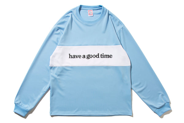 "have a good time ""PANEL JERSEY L/S TEE"" (Blue)"