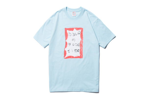 "have a good time ""CRAYON FRAME S/S TEE"" (Blue)"