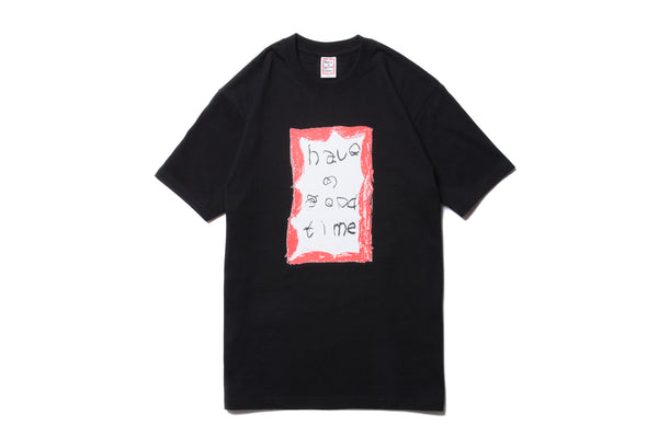 "have a good time ""CRAYON FRAME S/S TEE"" (Black)"