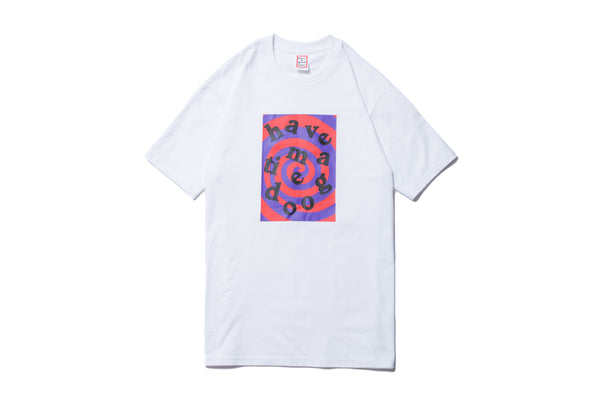 "have a good time ""SPIRAL LOGO S/S TEE"" (White)"
